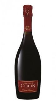 """ Rosé de Saignée 1er Cru"" Champagne AOC Brut Millesime champagne COLIN 2012 con Confezione"