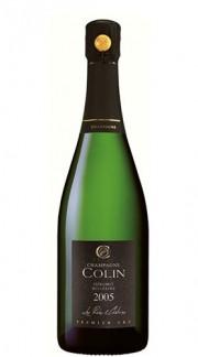 """Cuvée Les Prôles & Chétivins 1er Cru"" Champagne AOC Millesime Extra Brut champagne COLIN 2005 con Confezione"