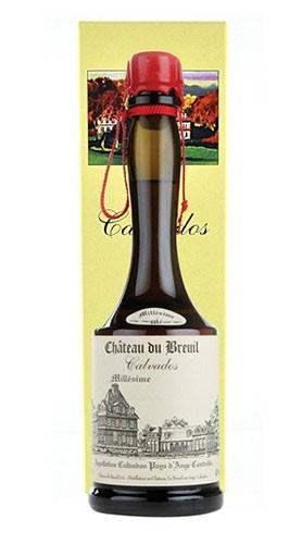 """Calvados """"Millésime"""" Château du Breuil 2002 70 Cl con Confezione"""