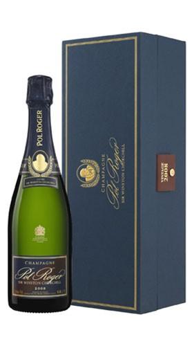 """""""Sir Winston Churchill"""" Champagne AOC Brut Pol Roger 2008 con Confezione"""