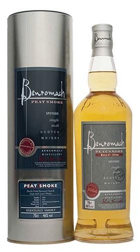 """Speyside Single Malt Scotch Whisky """"Peat Smoke"""" Benromach 2008 70 Cl"""