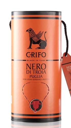 """""""Terre del Grifo"""" Nero di Troia Puglia IGP Grifo 2019 - Black Edition Bag in Tube 3l"""