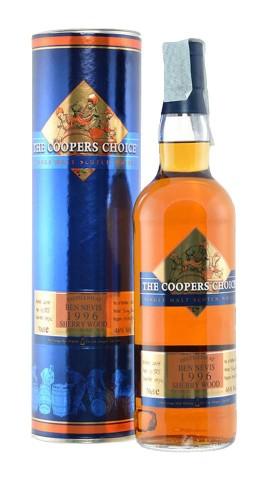 "Single Malt Scotch Whisky ""Ben Nevis Cooper's Choice"" The Vintage Malt Whisky Company 1996 70 Cl Tubo"