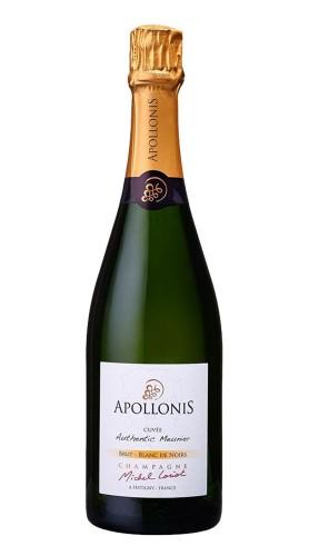 'Les Classiques Authentic Meunier' Champagne AOC Brut Blanc de Noir Apollonis-Michel Loriot con astuccio