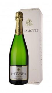 Champagne Brut Blanc de Blancs Delamotte con confezione