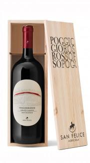 """""""Poggio Rosso"""" Chianti Classico DOCG Gran Selezione San Felice 2016 MAGNUM in Box di Legno"""