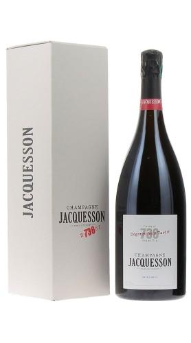 """""""Cuvee 738"""" Deg. Tardif Champagne Extra Brut Jacquesson Magnum con confezione"""