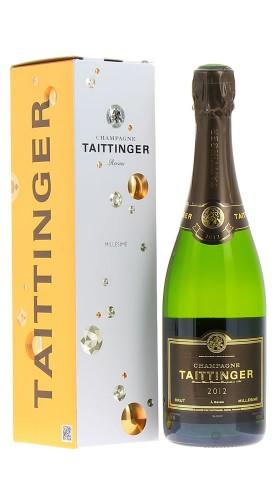 Champagne Brut Millésimé Taittinger 2012 con confezione