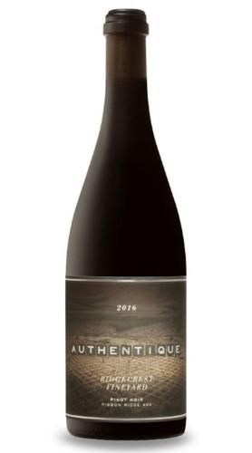 """Ridgecrest Vineyard"" Pinot Noir Authentique Wine Cellars 2016"