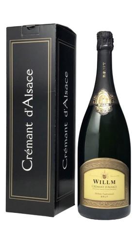 Crémant d'Alsace AOC Brut Alsace Willm Magnum con Confezione