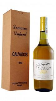 """Calvados """"Fine"""" Domaine Dupont 2 anni 70 cl Con Confezione"""