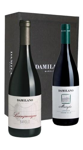 """Barolo """"Lecinquevigne"""" 2016 e Nebbiolo """"Marghe"""" 2017 Damilano in Box di Legno"""