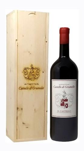 """""""Il Castello"""" Valcalepio Rosso Riserva DOC Castello di Grumello 2015 MAGNUM in Box di Legno"""