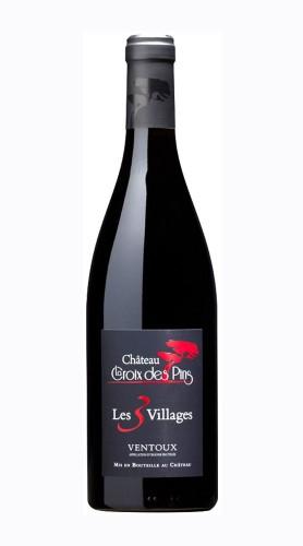 """""""Le Trois Villages Rouge"""" Ventoux AOP Chateau La Croix des Pins 2018"""