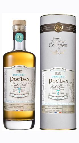 """""""POC'HAN"""" Eau-de-vie Cognac Whisky casks finished Drouet et Fils 2011 Astucciato"""
