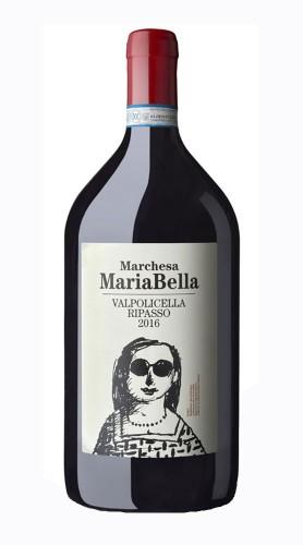 """""""Marchesa MariaBella"""" Valpolicella Ripasso DOC Massimago 2018 BALTHAZAR 12 LITRI Box di Legno"""