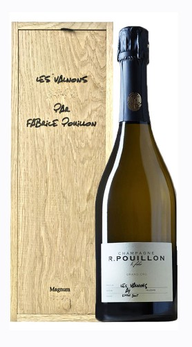 """""""Les Valnons""""Champagne Extra Brut Grand Cru Roger Pouillon 2014 Magnum con Box di Legno"""