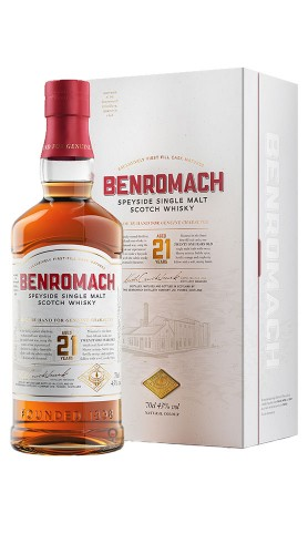 Scotch Whisky Speyside single malt 21Years Benromach