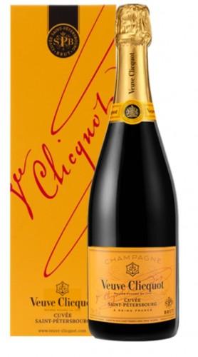 """""""Cuvée Saint Petersbourg"""" Champagne AOC Veuve Clicquot 1,5 L Astucciato"""