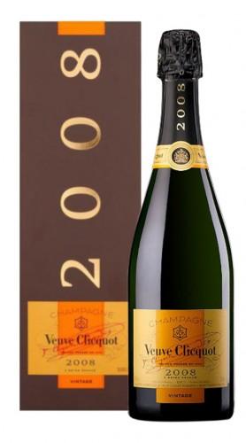Champagne Brut 'Vintage' Veuve Clicquot 2008 con confezione