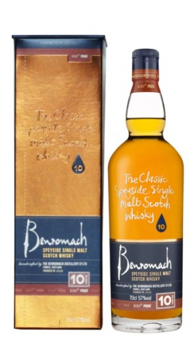 """Whisky Single Malt """"100° Proof"""" Benromach 10 Years Old 70 Cl con Confezione"""