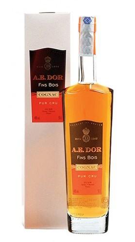 "Cognac ""Pur Cru Fins Bois"" Maison A.E. DOR 50 Cl con Confezione"
