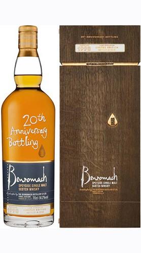 """Whisky Single Malt """"1998 20 Th Anniversary Bottling"""" Benromach 2009 70 Cl"""