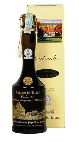 Calvados Réserve des Seigneurs XO 20 Ans d'Age Château du Breuil 70 Cl con Confezione