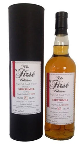 "Single Malt Scotch Whisky 21 years old ""Strathmill Cooper's Choice"" The Vintage Malt Whisky Company 1992 70 Cl Tubo"