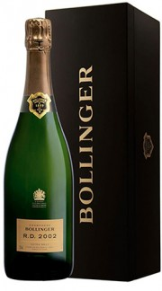"Champagne Extra Brut ""R.D."" Cassa in legna da 6 bottiglie indivisibile Bollinger 2002 75 Cl"