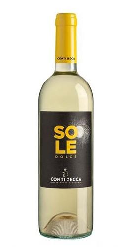 """""""Sole"""" Malvasia Bianca 2017 Conti Zecca Bottiglia CL 50"""