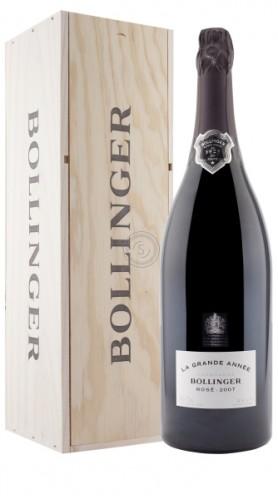 """""""La Grande Année"""" Champagne AOC Rosé Bollinger 2007 1,5 L Box di Legno"""