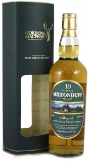 """Speyside Single Malt Scotch Whisky """"Miltonduff 10 Y.O."""" GORDON & MACPHAIL 70 Cl Astucciato"""