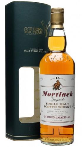 """Speyside Single Malt Scotch Whisky """"Mortlach 15 Y.O."""" Gordon & MacPhail 70 cl Astucciato"""