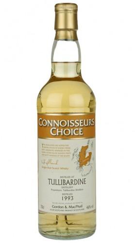 """Single Malt Scotch Whisky """"Connoisseurs Choice Tullibardine"""" Gordon & MacPhail 1993 70 cl"""