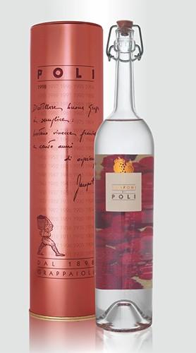 """Distillato """"Lamponi di Poli"""" Poli Jacopo ASTUCCIATO 50 cl"""