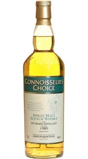 """Single Malt Scotch Whisky """"Connoisseurs Choice Speyburn"""" Gordon & MacPhail 1989 70 cl"""