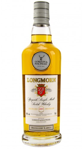 "Single Malt Scotch Whisky ""Distillery Labels Longmorn"" Gordon & MacPhail 2003 70 cl"