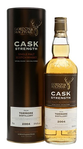 "Single Malt Scotch Whisky ""Cask Strength Tormore"" Gordon & MacPhail 2004 70 cl"