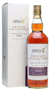 """Single Malt Scotch Whisky """"Private Collection Linkwood wood finish Cote Rotie"""" Gordon & MacPhail 1998 70 cl"""