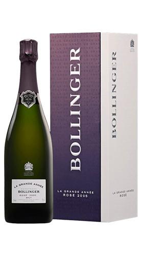 """Champagne Brut Rosé """"La Grande Année"""" Bollinger 2005 75 Cl Astucciato"""