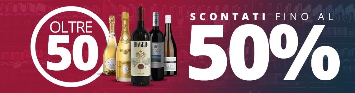 50 vini scontati fino al 50%